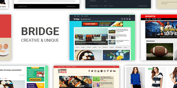 Bridge, Plantilla de WordPress premium