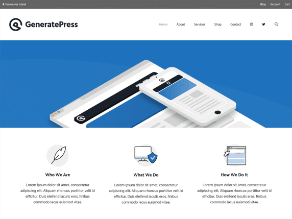 Generatepress, Plantilla de WordPress gratis