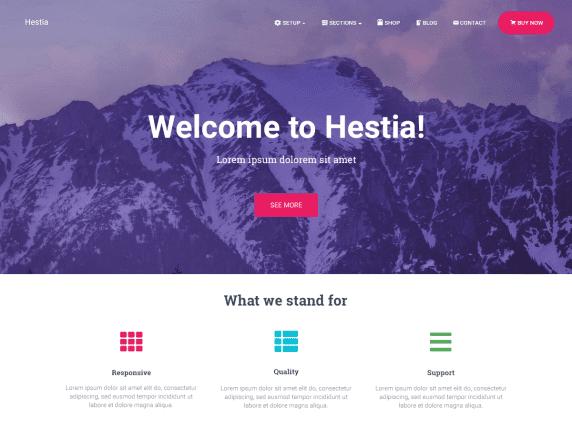 Hestia, plantilla gratis de WordPress