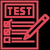 Icono examen rojo