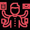 Icono tarea multiple rojo